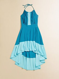 Un Deux Trois - Girl's Hi-Low Hem Halter Dress