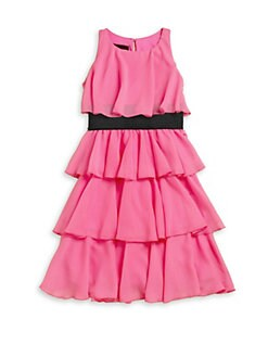 Un Deux Trois - Girl's Tiered Chiffon Party Dress