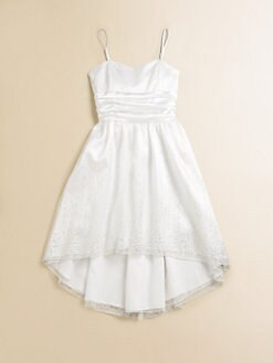 Un Deux Trois - Girl's Hi-Lo Hem Party Dress