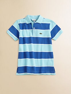 Lacoste - Boy's Striped Pique Polo Shirt