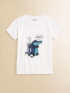 Lacoste - Boy's Comic Crocs Tee
