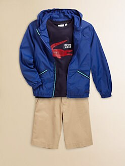 Lacoste - Boy's Packable Nylon Windbreaker