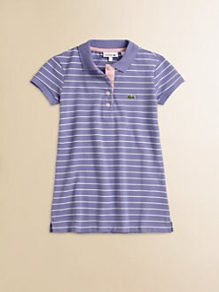 Lacoste - Girl's Striped Polo Tunic