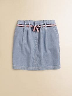 Lacoste - Girl's Striped Denim Skirt