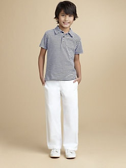 Oscar de la Renta - Boy's Striped Jersey Polo