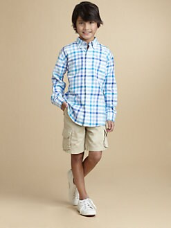 Oscar de la Renta - Boy's Linen-Blend Check Shirt