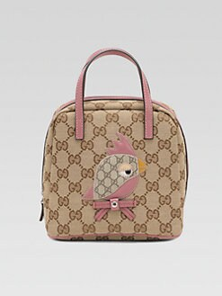 Gucci - Girl's Gucci Zoo GG Canvas Tote