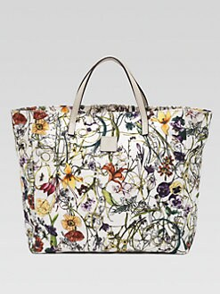 Gucci - Girl's Micro Floral Infinity Canvas Tote