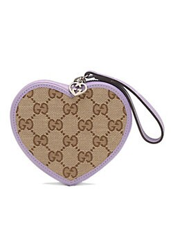 Gucci - Girl's GG Heart-Shaped Wristlet