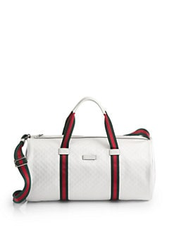 Gucci - Leather-Trimmed Logo-Embossed Nylon Duffel Bag