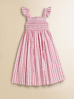 Anavini - Girl's Lisa Smocked Floral Sundress