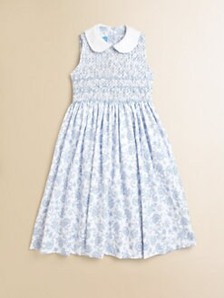 Anavini - Girl's Miranda Toile Piqu&#233; Sundress