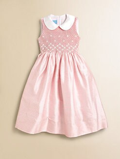 Anavini - Girl's Sabine Gingham Silk Dress