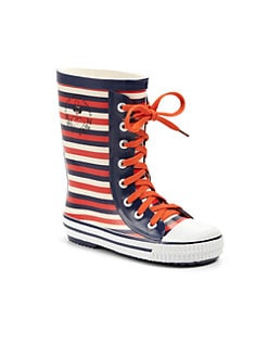 Little Marc Jacobs - Girl's Striped Rainboots
