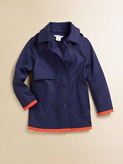 Little Marc Jacobs - Girl's Gabardine Mini-Me Peacoat