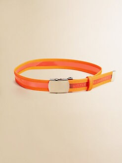 Little Marc Jacobs - Girl's Vinyl Logo Belt
