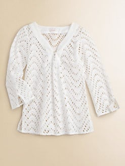 Shoshanna - Girl's Wave Eyelet Tunic