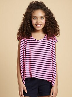Splendid - Girl's Striped Cutaway Top