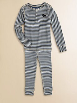 Hatley - Boy's Striped Moose Pajama Set