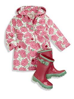 Hatley - Girl's Pink Roses Raincoat