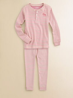 Hatley - Girl's Moose Striped Pajama Set