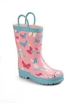 Hatley - Infant's, Toddler's & Little Girl's Flying Butterflies Pull-On Rain Boots
