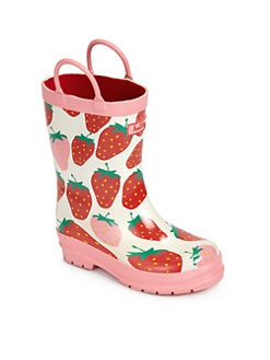 Hatley - Strawberry-Print Rubber Rain Boots