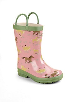 Hatley - Toddler's & Little Girl's Running Horses Pull-On Rain Boots