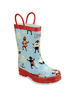 Hatley - Toddler's & Little Boy's Pirate Dog Pull-On Rain Boots
