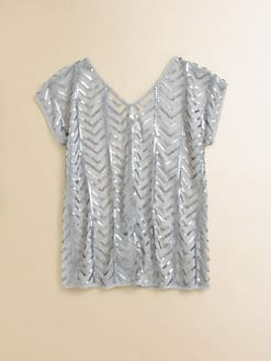 Sally Miller - Girl's Zig Zag Sequin Top