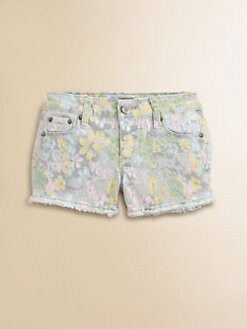Tractor - Girl's Watercolor Floral Shorts
