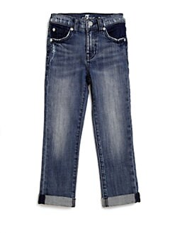 7 For All Mankind - Toddler's & Little Girl's Crop & Roll Jeans
