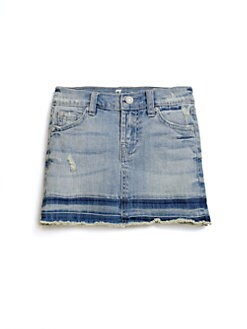 7 For All Mankind - Girl's Distressed Denim Skirt
