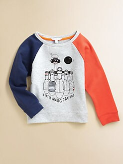 Little Marc Jacobs - Girl's Colorblocked Raglan Sweatshirt