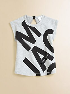 Little Marc Jacobs - Girl's Fleece Block Print Top