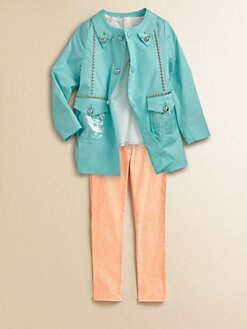 Little Marc Jacobs - Girl's Studded Trench Coat