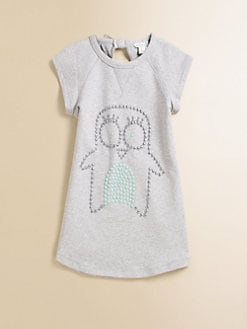 Little Marc Jacobs - Girl's Studded Fleece Penguin Dress