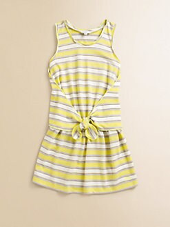 Little Marc Jacobs - Girl's Striped Jersey Tie Dress