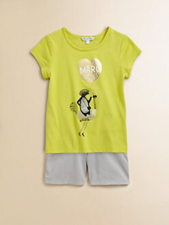 Little Marc Jacobs - Girl's Balloon Tee