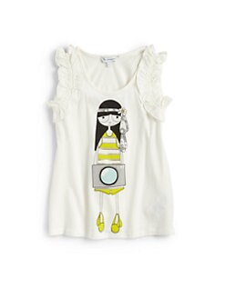 Little Marc Jacobs - Girl's Ruffle Miss Marc Tank Top