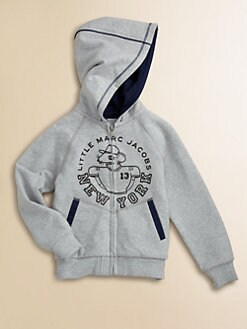 Little Marc Jacobs - Boy's Zip-Front Fleece Hoodie