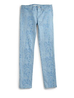 Joe's - Girl's Metallic Snakeskin-Print Denim Leggings