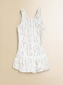 Milly Minis - Girl's Crocheted-Lace Cover-Up
