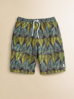 Retromarine - Boy's Leaf Swim Trunks