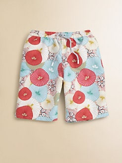Retromarine - Boy's Tropical Swim Trunks