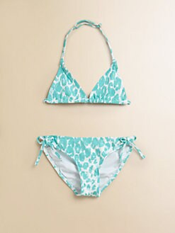 Milly Minis - Girl's Cheetah-Print Triangle Bikini