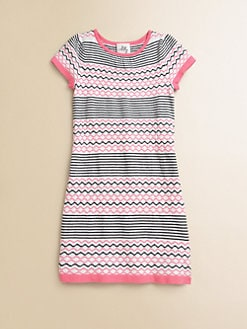 Milly Minis - Girl's Intarsia Striped Sweater Dress
