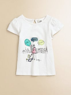 Milly Minis - Girl's Flutter-Sleeve Tee