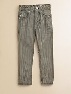 Diesel - Boy's Railroad Striped Straight-Leg Jeans