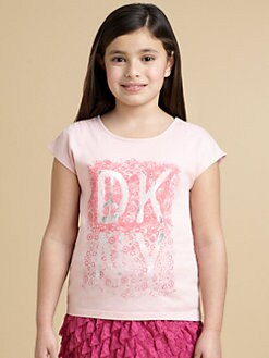 DKNY - Girl's Lace Print Tee